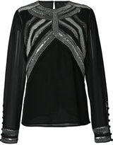Derek Lam metallic trim blouse - women - Silk - 38