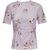 Nina Ricci Floral-print silk top