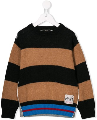 No.21 Kids striped knit sweater