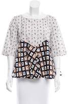 Suno Embellished Printed Top