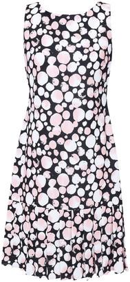 DKNY Printed Stretch-crepe Dress