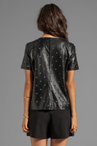 Lovers + Friends Thrilled Faux Leather Top