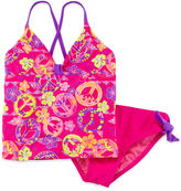 JCPenney BREAKING WAVES Breaking Waves 2-pc. Peace Sign Tankini - Girls 7-16