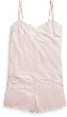 Ralph Lauren Lace-Trim Cami Pyjama Set