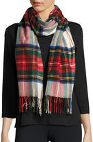 Lord & Taylor Fringed Tartan Plaid Scarf or Wrap
