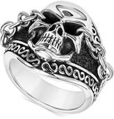 Scott Kay Men's Skull and Chain Ring in Sterling Silver