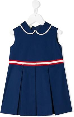 Gucci Kids Pleated Cotton Dress