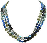 One Kings Lane Vintage Three-Strand Crystal & Resin Necklace