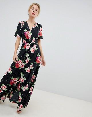 Asos DESIGN maxi tea dress in floral print