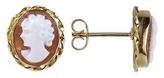 Del Gatto Sardonyx Cameo 18K Gold Earrings
