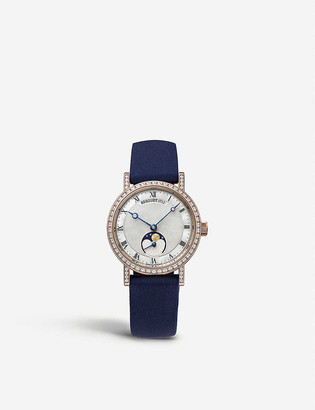 Breguet G9088BR52964DD0D Classique Dame 18ct rose-gold, diamond and leather watch
