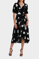 NEW Leona by Leona Edmiston Wrap Thistle Flower Print Midi Dress Assorted