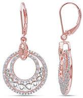 Concerto Two-Tone Diamond Infinity Circle Leverback Earrings