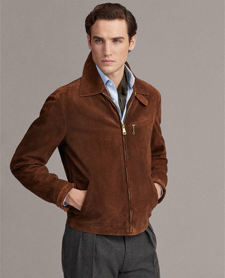 Ralph Lauren Embossed Suede Newsboy Jacket