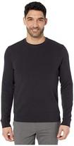 Perry Ellis Ottoman Rib Knit Long Sleeve Shirt (Black) Men's Clothing