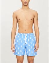 Polo Ralph Lauren Traveller pineapple-print logo-embroidered swim shorts