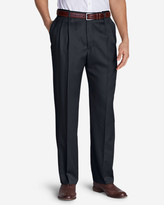 Eddie Bauer Men's Relaxed Fit Pleated Comfort Waist Wool Gabardine Trousers