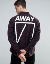 Asos Skinny Back Print Check Shirt