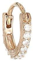 Jude Frances Petites Women's 18K Rose Gold Diamond Huggie Hoop Earring