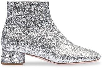 Miu Miu glitter ankle boots