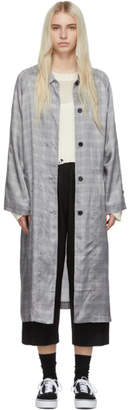 6397 Grey Plaid Raglan Coat