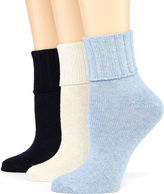 JCPenney MIXIT Mixit 3-pk. Turn-Cuff Socks
