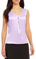 Kasper V-Neck Sleeveless Charmeuse Cami