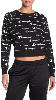 Champion Campus French Terry Cropped Crew Neck Pullover