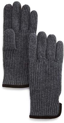 Bloomingdale's The Men's Store at Suede-Trimmed Ribbed Gloves - 100% Exclusive