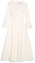 Valentino Corded Cotton-blend Guipure Lace Midi Dress - Ivory