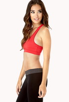 Forever 21 Medium Impact - Lace Trimmed Sports Bra