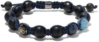 Shamballa 18kt black gold and diamond Star of bead bracelet