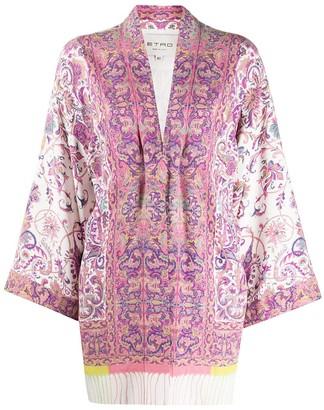 Etro Paisley Print Flared Jacket