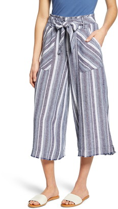 Wit & Wisdom Paperbag Waist Crop Wide Leg Pants