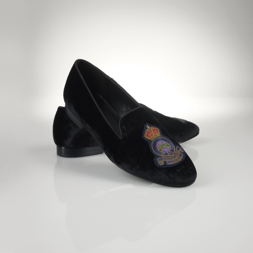 Ralph Lauren Nala Crested Velvet Loafer