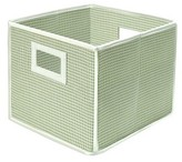 Badger Basket Polka Dot Fabric Cube - Sage