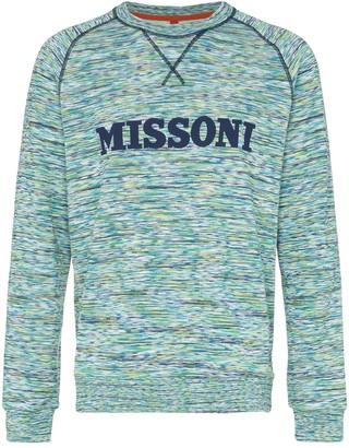 Missoni Logo Embellished Cotton Jumper