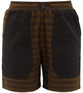 Phipps - Striped Organic-cotton Fleece Shorts - Womens - Brown