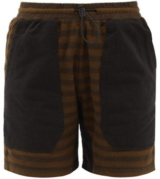 Phipps Striped Organic-cotton Fleece Shorts - Brown