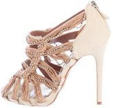 Tabitha Simmons Embellished Cage Sandals