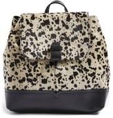 Topshop Genuine Calf Hair & Calfskin Leather Backpack - White