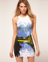 Zoe Racer Dress Mountains