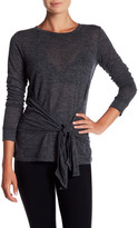 David Lerner Long Sleeve Tie Front Tee