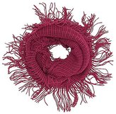 Charlotte Russe Open Knit Fringe Infinity Scarf