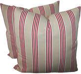 One Kings Lane Vintage Striped Pillows