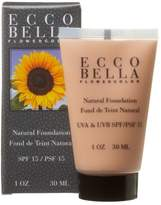 Ecco Bella FlowerColor Natural Liquid Foundation - Vegan, Gluten and Paraben-Free Makeup for Flawless Coverage,1 oz