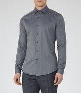 Reiss Ronny - Textured Cotton Shirt in Blue, Mens