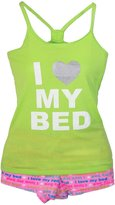 Me Moi Memoi Women's Love My Bed Tank and Short Pajama Set, XL
