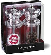 Cole & Mason Precision Grind 505 Salt and Pepper Mill Gift Set - Acrylic/Clear, 14 cm