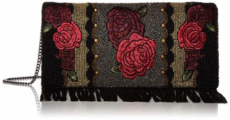 Mary Frances Western Rose Beaded Embroidered Crossbody Clutch